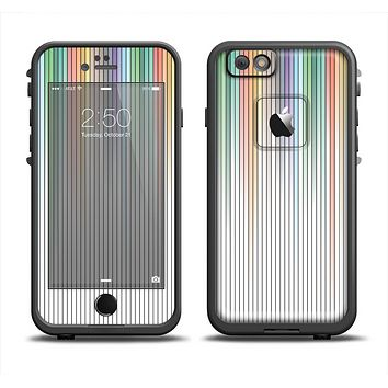 The Faded Pastel Color-Stripes Apple iPhone 6 LifeProof Fre Case Skin Set
