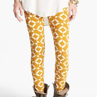 Threads for Thought Geometric Print Leggings (Juniors) | Nordstrom