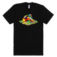 Big Bang Melting Cube Tee Tshirt-Unisex Black T-Shirt
