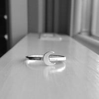 Moon Ring, Sterling Silver Crescent Moon Ring, Stacking Rings, Moon Jewelry, Stackable Rings, Sterling Silver Moon Ring