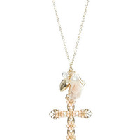 Daisy Cross Charm Necklace   Shop Accessories at Wet Seal