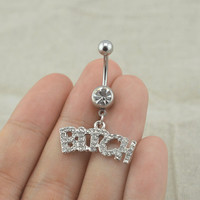 belly button rings rocker belly button ring steampunk belly ring
