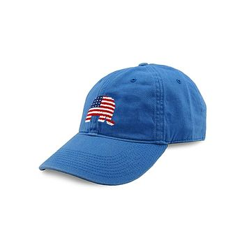 Patriotic Republican Needlepoint Hat in Royal by Smathers & Branson