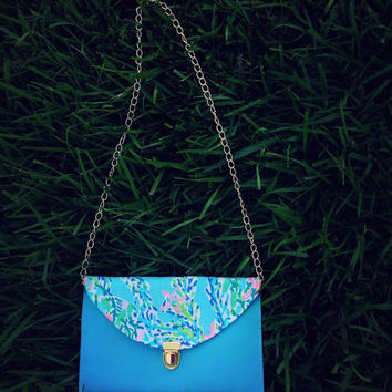 Lilly Pulitzer Crossbody Purse in Skye Blue Blue Heaven