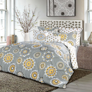 The Aidia Boho Mandala Print 7PC Comforter Bedding SET