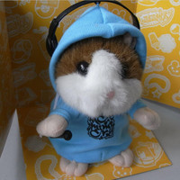 Free Shipping HIGH QUALITY MC DJ Rapper Baby Early Learning Wear Clothes Hamster Talking Toy for Kids L260