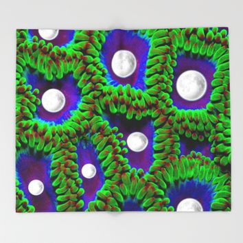 Gaia | Planet Earth into a New Dimension Throw Blanket by Azima
