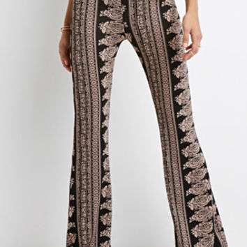 Ornate Paisley Flared Pants