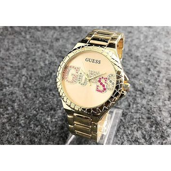 GUESS 2018 street fashion sleek minimalist waterproof quartz watch F-Fushida-8899 4