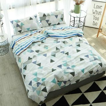 100% Cotton Modern Geometric Bedding Set 3/4 Pcs   Home Sateen Cotton 200TC Duvet Cover Pillow Cover Bed Set Queen King