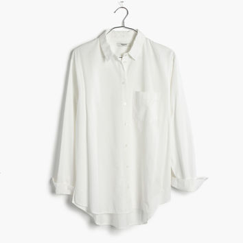 Drapey Oversized Boyshirt in Pure White : | Madewell