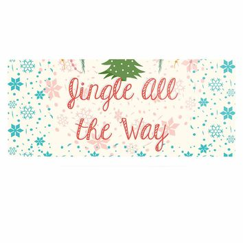 """Famenxt """"Jingle All The Way"""" Holiday Digital Luxe Rectangle Panel"""