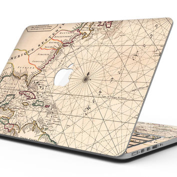 The Vintage Amerique Overview Map - MacBook Pro with Retina Display Full-Coverage Skin Kit