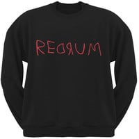 Halloween Horror Redrum Black Adult Sweatshirt