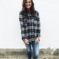 Baelyn Flannel Shirt - Black/White