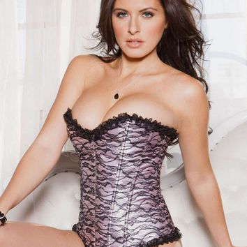 iCollection Lingerie Lace Overlay Corset