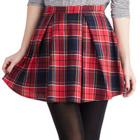Refined Research Skirt in Red | Mod Retro Vintage Skirts | ModCloth.com