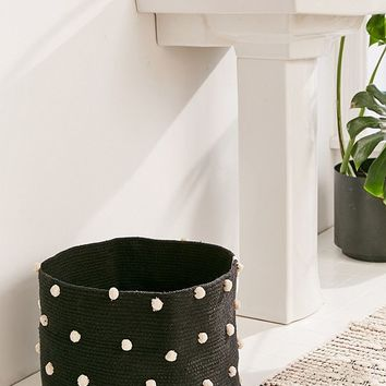 Lorena Canals Pebble Pom Laundry Basket | Urban Outfitters
