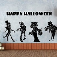 Wall Decals Happy Halloween Zombie Decal Vinyl Sticker Home Art Bedroom Home Decor Art Mutal Room Decor Wall Art Halloween Party Decor MS610