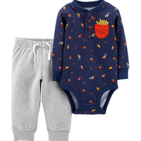 Carter's 2-pc. Food Bodysuit & Pants Set - Baby 0-18 Mos. | Stage Stores