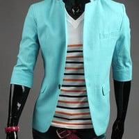 Blue Multi-Pocket Blazer