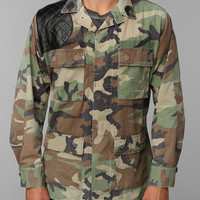 Urban Outfitters - FAIF X Urban Renewal Leather-Patch Camo Jacket