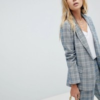 Oasis Check Tailored Blazer at asos.com