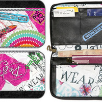 DESIGUAL TRAVEL WALLET EXCLUSIVE COLLECTION 1ST PIECE! BEAUTIFULLY BOXED NWT $76