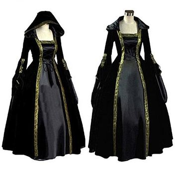 Women's Medieval Renaissance Victorian Dresses Princess Ball Gowns Dresses Costumes Custom Made