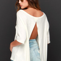 Amuse Society Sadie Cream Top