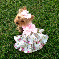 Meet Me in Paris Dog Dress Customizable to your dogs measurements!  Size  XXS XS Small