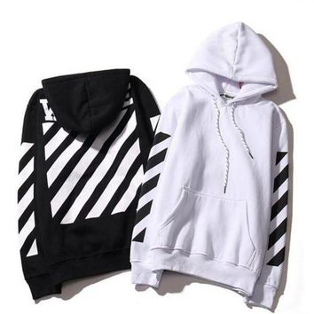 Lovers Men's Stripe Hoodies OFF WHITE Sweatshirts Causal Hip Hop Cool Brand Designer Men Jesus Arrow Angel Cotton Hoodie Shirt