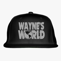 Wayne's World Embroidered Snapback Hat