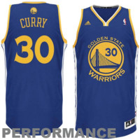 Stephen Curry Golden State Warriors adidas Swingman Road Jersey - Royal Blue