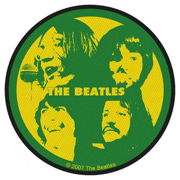 Beatles Men's Band Portrait Woven Patch Green
