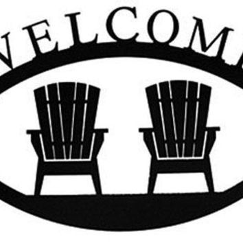 Wrought Iron Large Chairs Welcome Home Sign Large