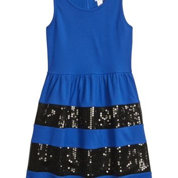 SEQUIN FIT & FLARE DRESS | GIRLS DRESSES CLOTHES | SHOP JUSTICE
