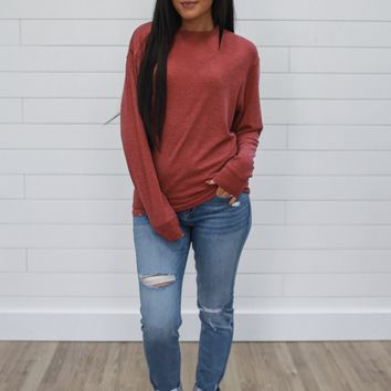 Simply Classic Sweatshirt - Cranberry