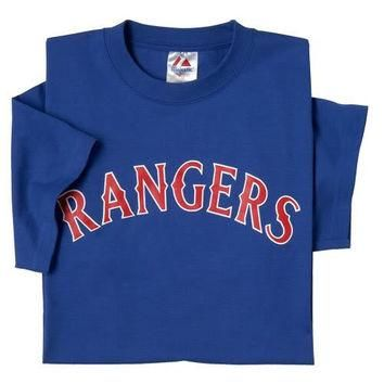 Texas Rangers (ADULT MEDIUM) 100% Cotton Crewneck MLB Officially Licensed Majestic Maj