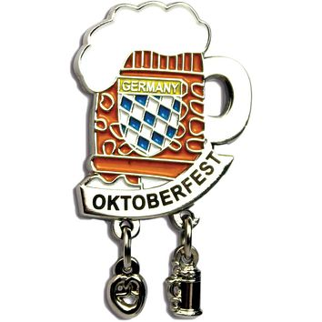 "Iconic ""Oktoberfest"" Hat Pins Beer Mug for German Hat"
