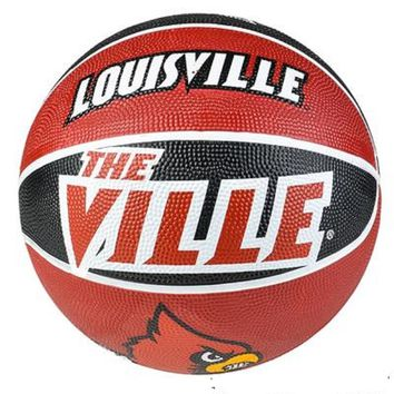 "9.5"" LOUISVILLE CARDINALS REGULATION BASKETBALL. For ages 5+."