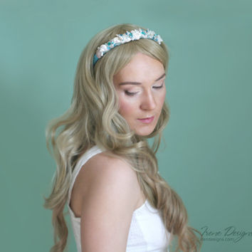 Mermaid's Bridal headband. Beach wedding hairpiece. Beach Wedding Hair Accessory