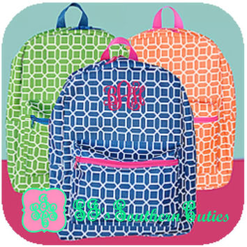 Monogrammed Preschool Backpack with Lunchbox, Monogram Bookbag and Lunchbox with FREE MONOGRAMMING