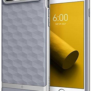 iPhone 8 Plus Case / iPhone 7 Plus Case Caseology [Parallax Series] Slim Protective Dual Layer Cover Geometric Design for Apple iPhone 8 Plus (2017) / iPhone 7 Plus (2016) - Ocean Gray