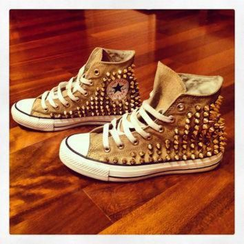 DCCKHD9 custom Gold studded Original Converse All Stars