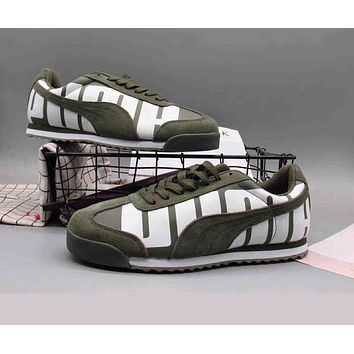 PUMA Valentine His Fashion Unisex Personality Sport Running Skateboard Shoes Sneakers Army Green I-A36H-MY