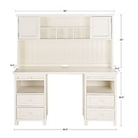 Beadboard Basic Desk, White