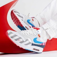 New Piet Parra x Nike Air Max 1 White Multi Retro Running Shoes AT3057-100