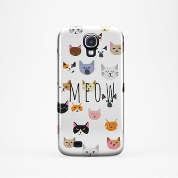 CAT iPhone 6 Case 5 /5c 4/4S Case - Cover , Cats Meow iPhone 5c Samsung S5 Case, Cats Galaxy s5 Tough iPhone 6 Case, iPhone 6 Plus Cats