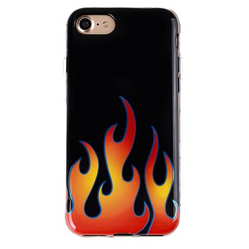 Blue Chrome Flames iPhone Case